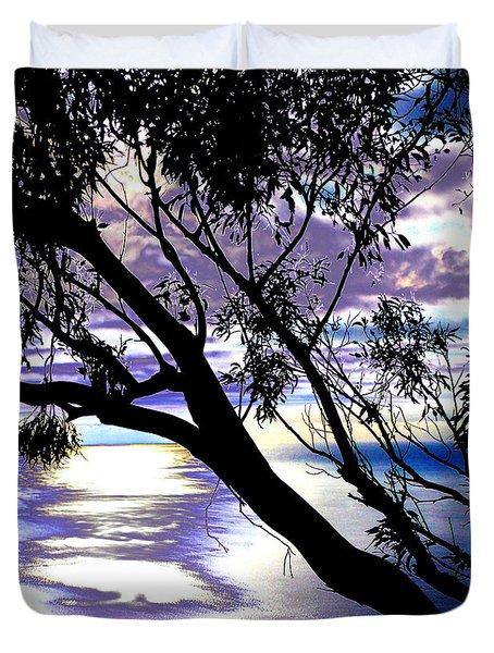 Tree In Silhouette Duvet Cover
