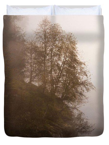 Tree In The Fog  Duvet Cover