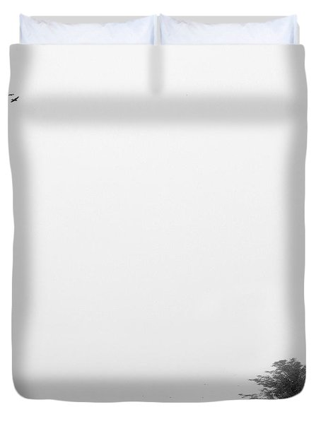 Tree In The Wind Duvet Cover by Mike McGlothlen