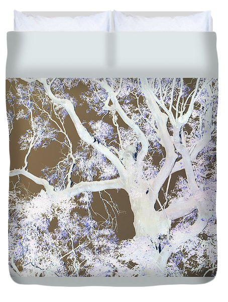 Duvet Cover featuring the photograph Tree Inversion by Cassandra Buckley