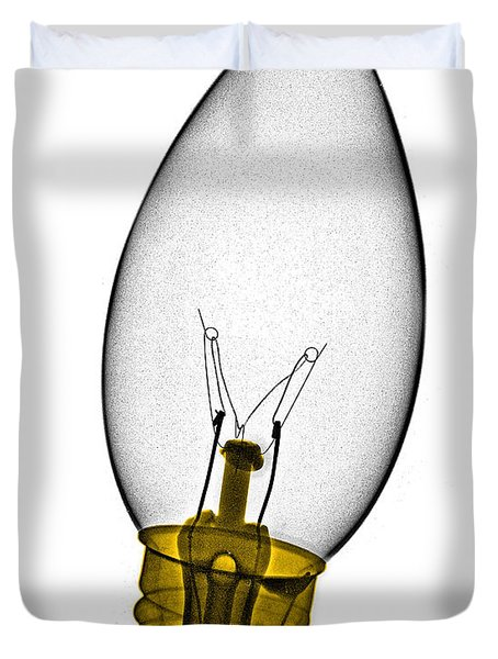 Tree Light Bulb X-ray Duvet Cover by Bert Myers