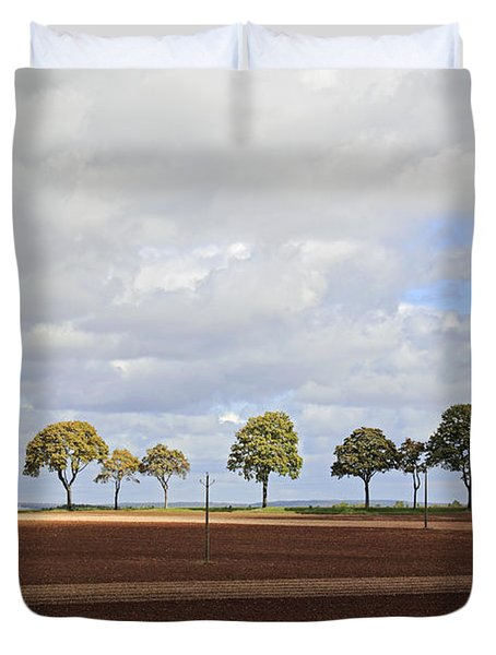 Tree Line France Duvet Cover