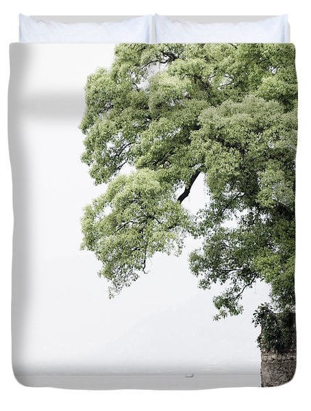Tree Next To A Lake Duvet Cover