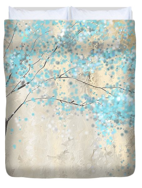 Tree Of Blues Duvet Cover by Lourry Legarde