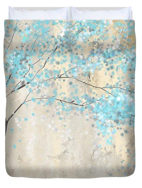 Tree Of Blues Duvet Cover