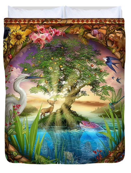 Tree Of Life Duvet Cover by Ciro Marchetti