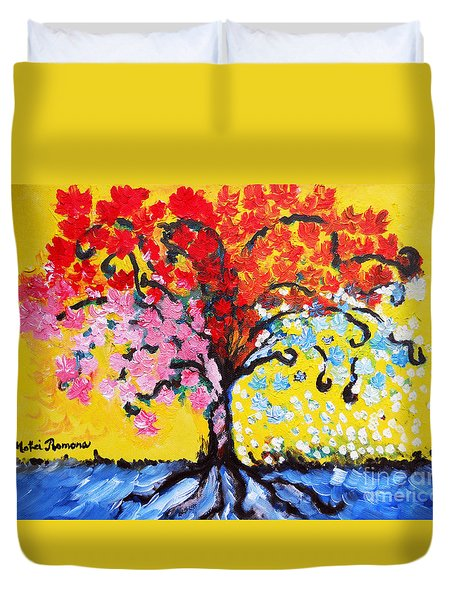 Tree Of Life Duvet Cover by Ramona Matei