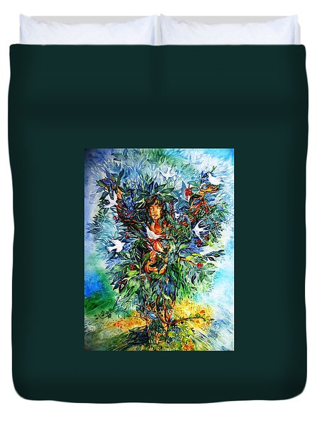 Tree Of Life  Duvet Cover by Trudi Doyle
