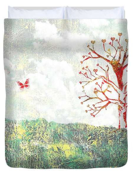 Tree Of Love Duvet Cover by Aged Pixel