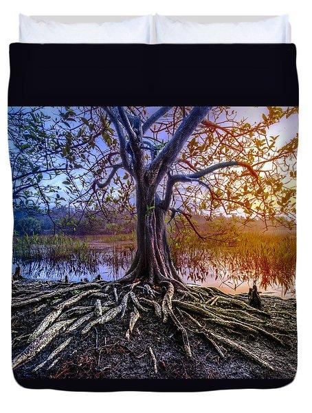 Tree Of Souls Duvet Cover by Debra and Dave Vanderlaan