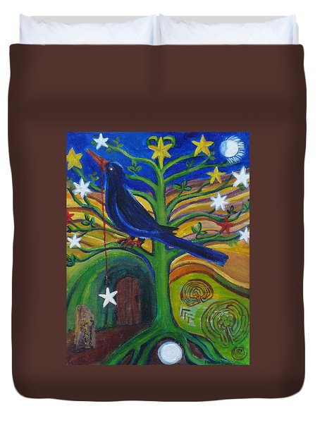 Tree Of Stars Duvet Cover