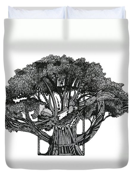 Tree Of Summer Duvet Cover