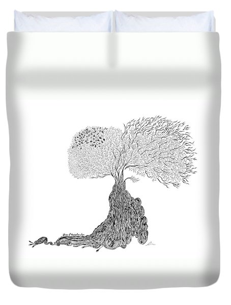 Tree Of Uncertainty Duvet Cover