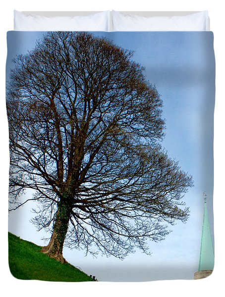 Tree On A Hill Duvet Cover