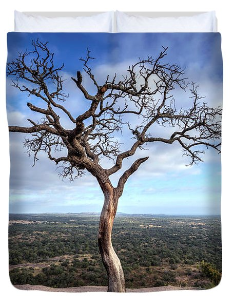 Tree On Enchanted Rock Duvet Cover