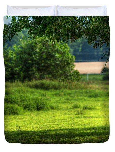 Tree On Summer Field Duvet Cover by Michal Bednarek