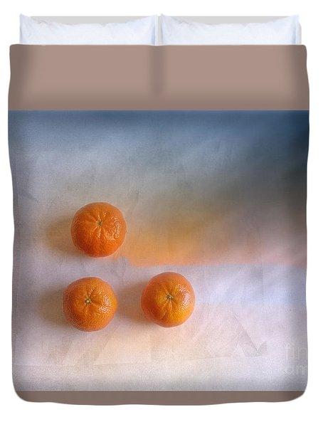 Tree Orange Duvet Cover by Veikko Suikkanen