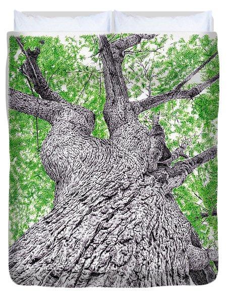Tree Pen Drawing 4 Duvet Cover