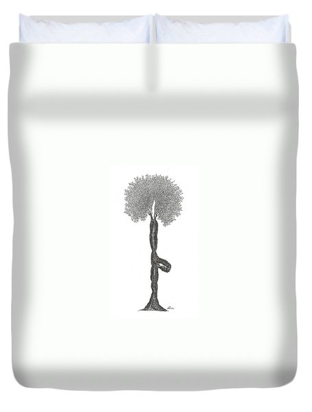 Tree Pose Duvet Cover