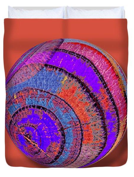 Tree Ring Abstract Orb Duvet Cover by Tony Rubino
