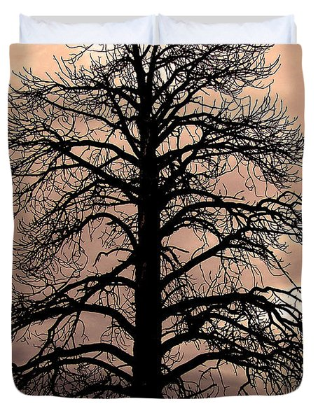 Tree Silhouette Duvet Cover by Laurel Powell