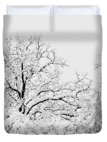 Tree Snow Duvet Cover