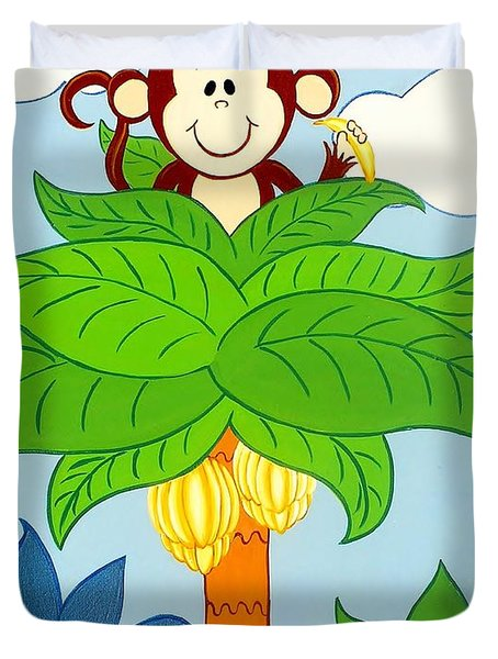 Tree Top Monkey Duvet Cover