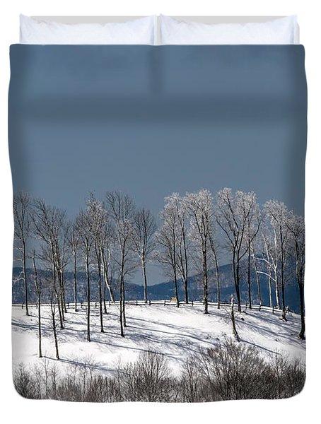 Tree Topper Hill Duvet Cover by John Haldane