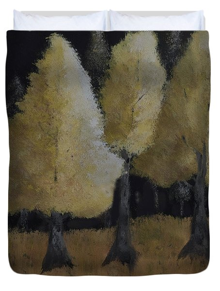 Tree Trio Duvet Cover by Dick Bourgault
