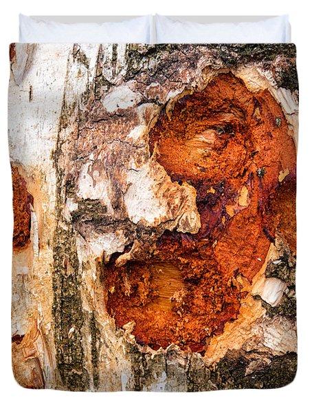 Tree Trunk Closeup - Wooden Structure Duvet Cover