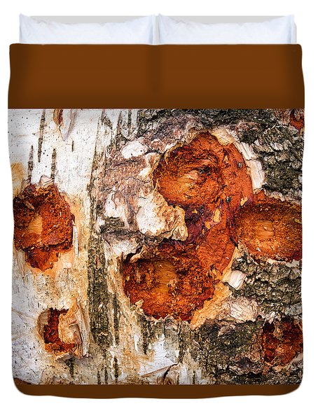 Tree Trunk Closeup - Wooden Structure Duvet Cover