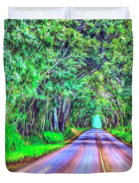 Tree Tunnel Kauai Duvet Cover