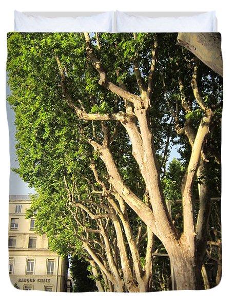 Treed Avenue Duvet Cover by Pema Hou