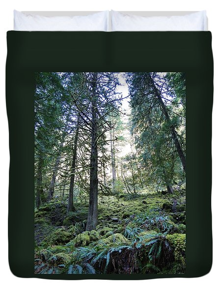 Duvet Cover featuring the photograph Treequility by Athena Mckinzie