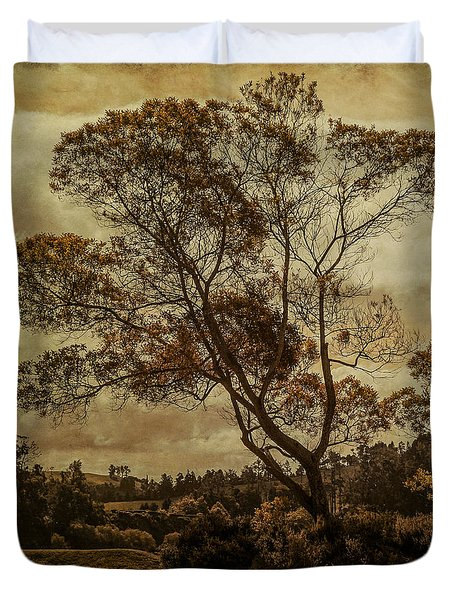 Trees And Hot Sand Duvet Cover