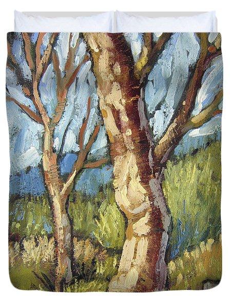 Trees In Spring Duvet Cover