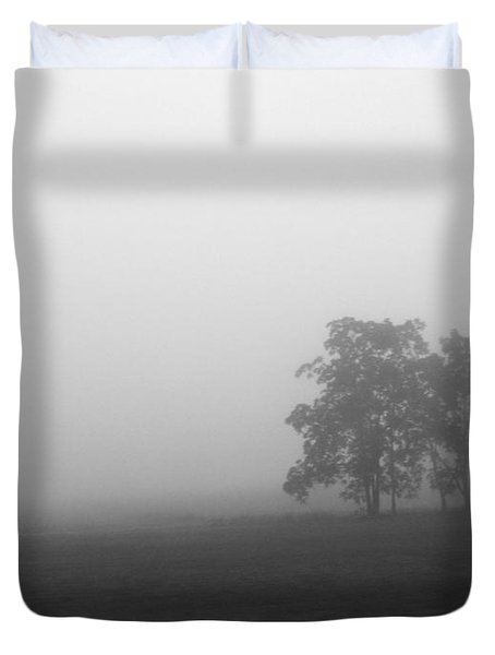 Trees In The Mist Duvet Cover