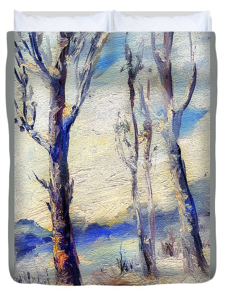 Trees In Winter Duvet Cover