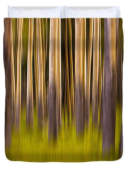 Duvet Cover featuring the digital art Trees by Jerry Fornarotto