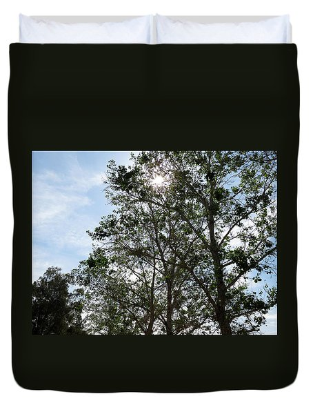 Trees At The Park Duvet Cover