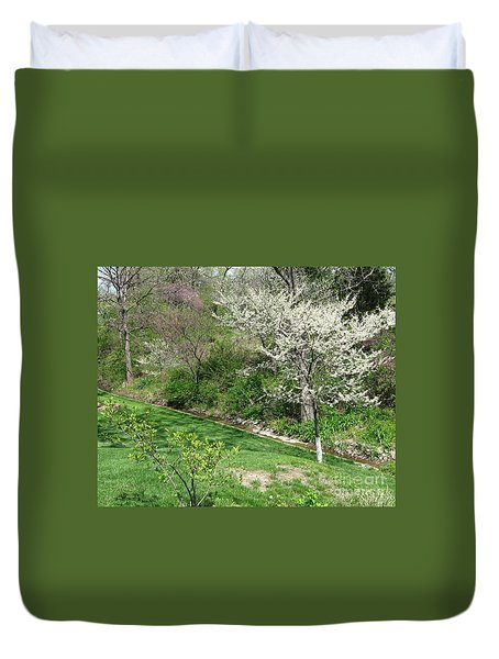 Trees Of Early Spring Duvet Cover