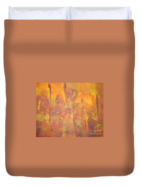 Trees Of The Field Duvet Cover by Olivia  M Dickerson