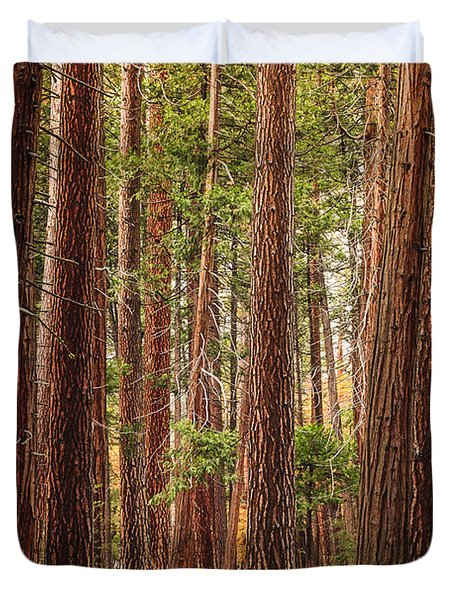 Trees Of Yosemite Duvet Cover