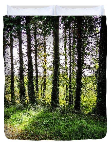 Trees On The Shannon Estuary Duvet Cover