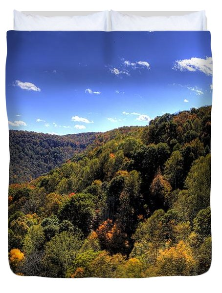 Trees Over Rolling Hills Duvet Cover