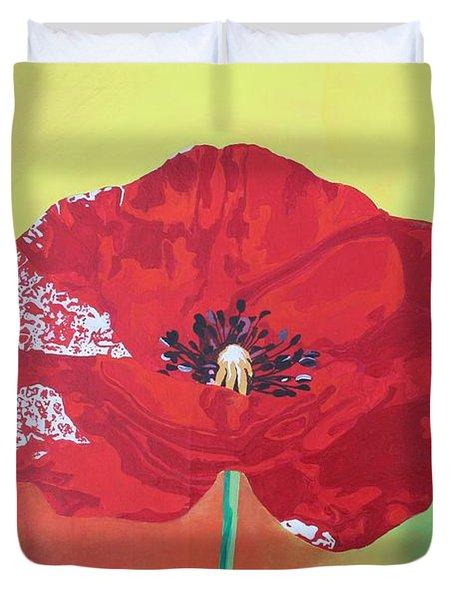 Trendy Poppy  Duvet Cover by Tracey Harrington-Simpson