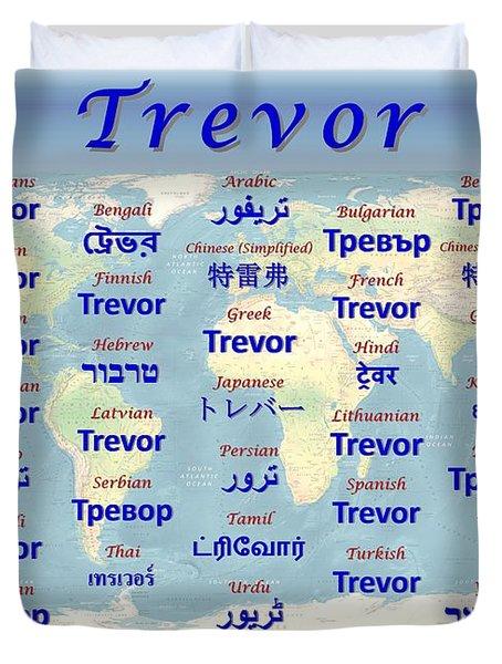 Trevor Duvet Cover by J McCombie
