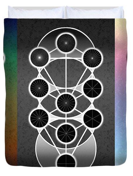 Tri-kabalah Chart Duvet Cover