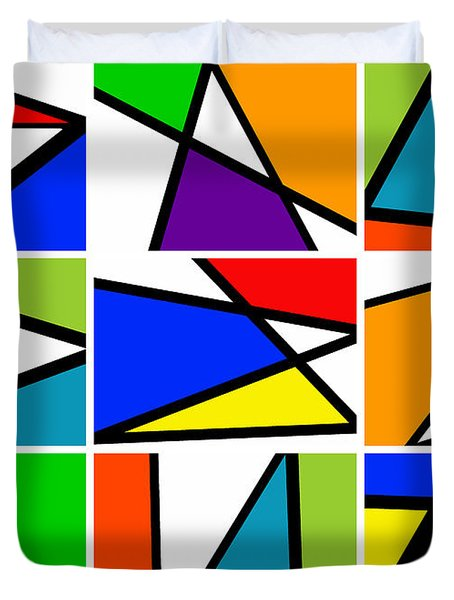Triangularism Enneaptych I Duvet Cover