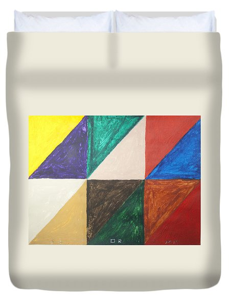 Triangles Duvet Cover by Stormm Bradshaw